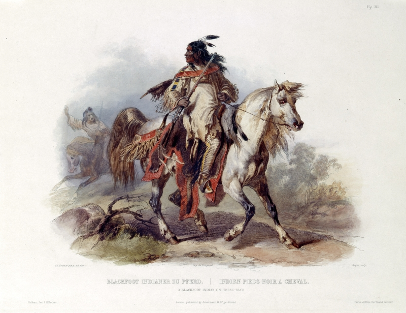 Blackfoot Indian on Horseback