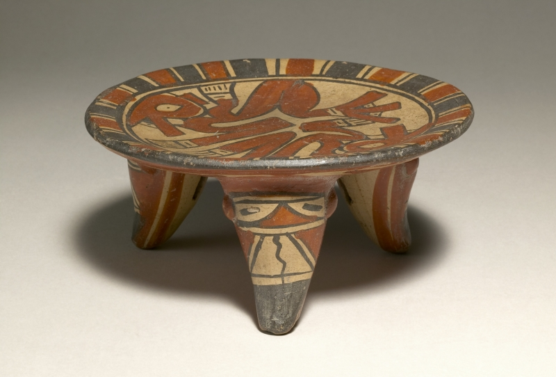 Tripod Plate with Stylized Animal Imagery