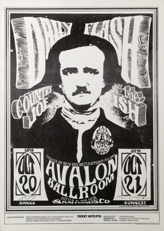 Edgar Allan Poe; Daily Flash, Country Joe and the Fish; Avalon Ballroom
