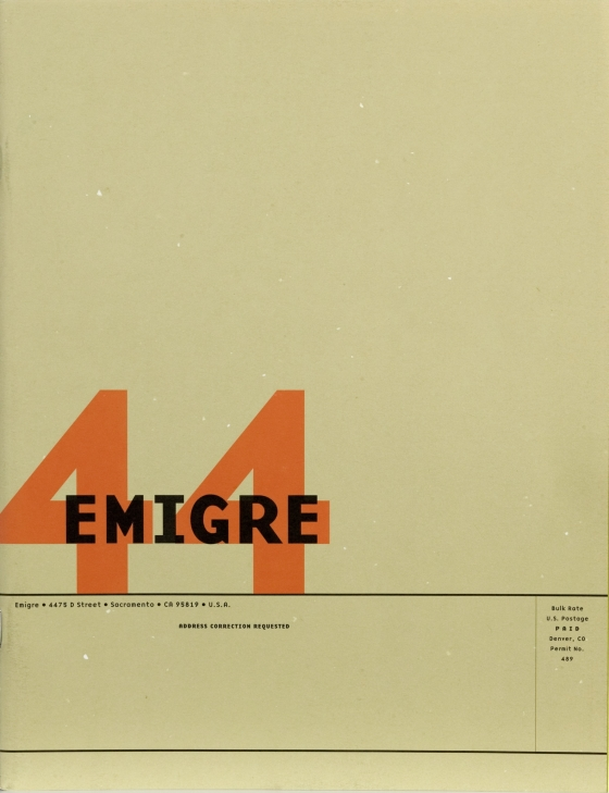 Emigre 44: Design As Content