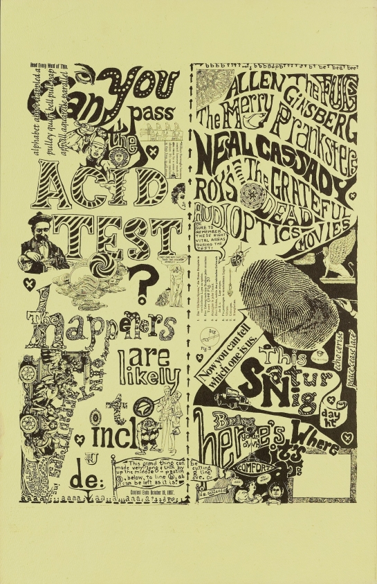 Can You Pass the Acid Test?; The Fugs, Allen Ginsberg, Merry Pranksters, Roys, The Grateful Dead