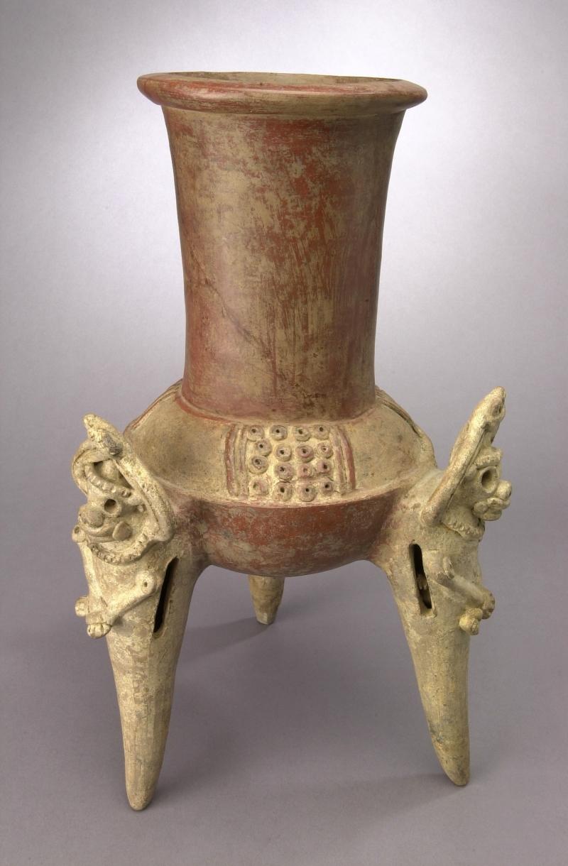 Tripod Jar with Applique Creatures