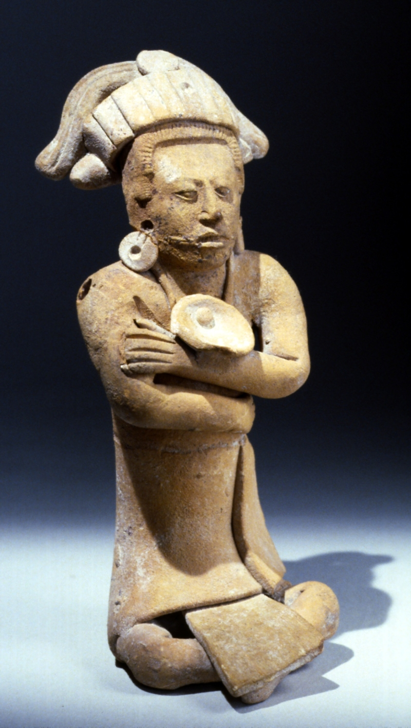 Jaina-style Whistle Figurine of a Seated Male