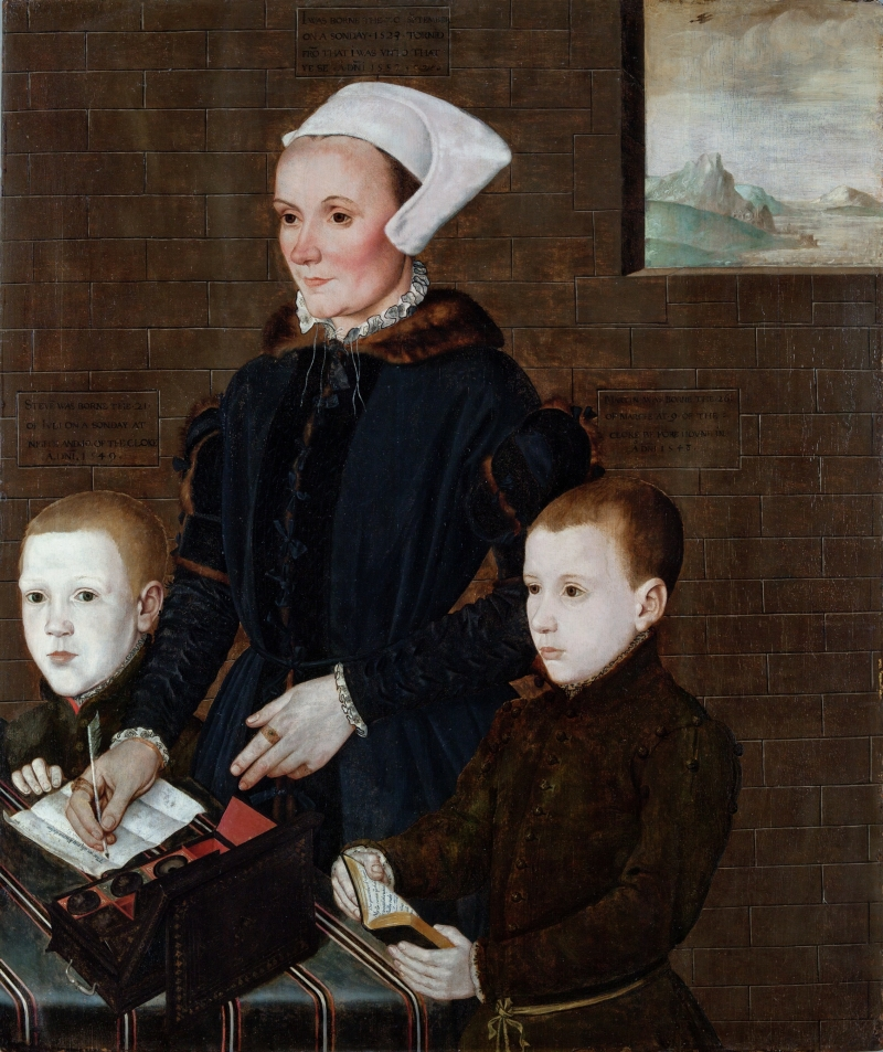 Alice Barnham and Her Sons Martin and Steven