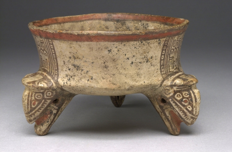 Tripod Bowl with Animal Head Supports