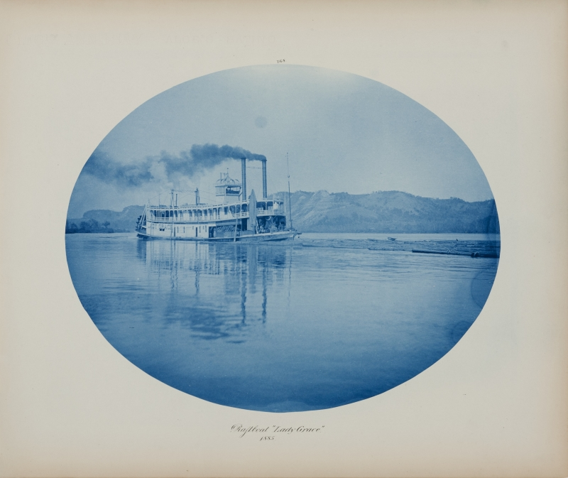 Raftboat 'Lady Grace' from the album Views on the Mississippi River between Minneapolis, Minn and St. Louis, Mo., 1883-1891