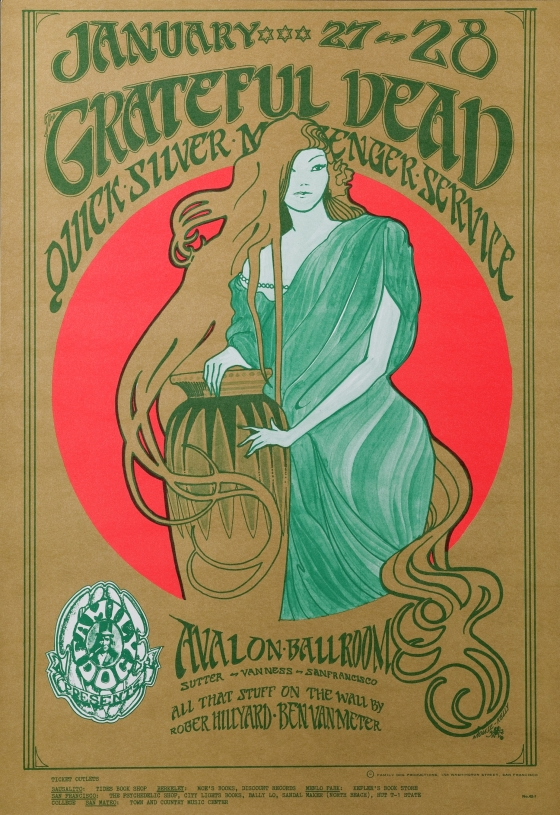 Girl with Long Hair; Grateful Dead and Quicksilver Messenger Service at Avalon Ballroom