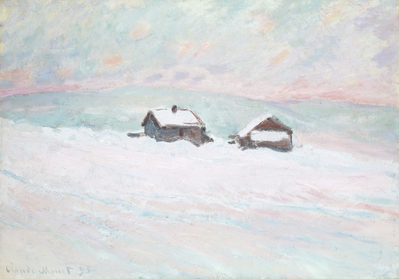 The Houses in the Snow, Norway (Les Maisons dans la neige, Norvège)