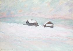 The Houses in the Snow, Norway (Les Maisons dans la neige, Norvège)