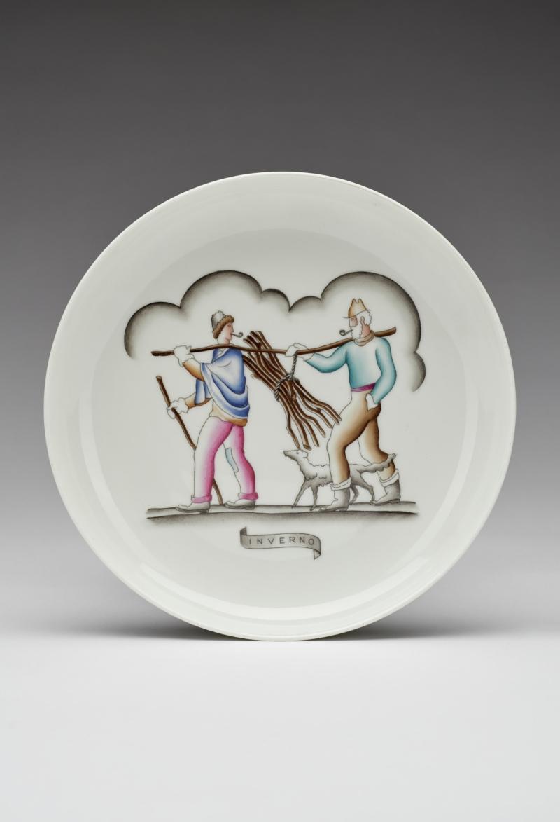 Le Quattro Stagioni (Inverno) [The Four Seasons (Winter)] Plate