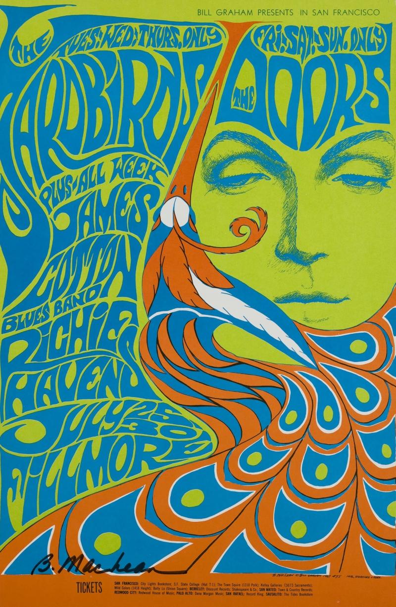 Yardbirds, Doors; Fillmore Auditorium