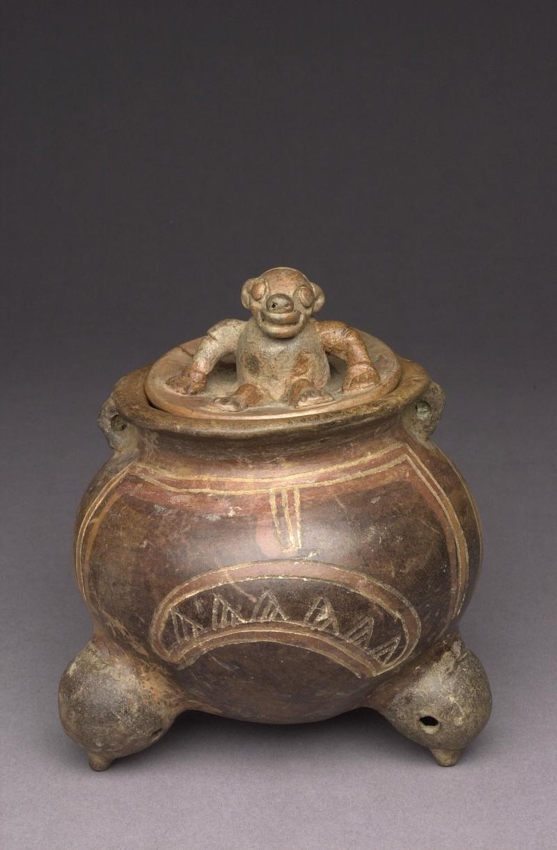 Lidded Tripod Jar