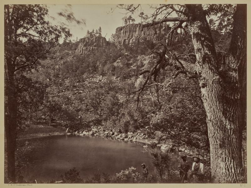 View on Apache Lake, Sierra Blanca Range, Arizona