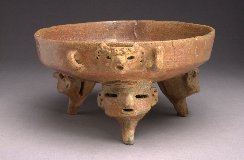 Tripod Bowl with Head-form Supports and Lugs