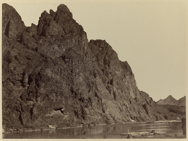 Bluff Opposite Big Horn Camp, Black Cañon, Colorado River
