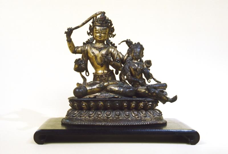 Bodhisattva of Wisdom (Manjusri) with His Consort Prajna