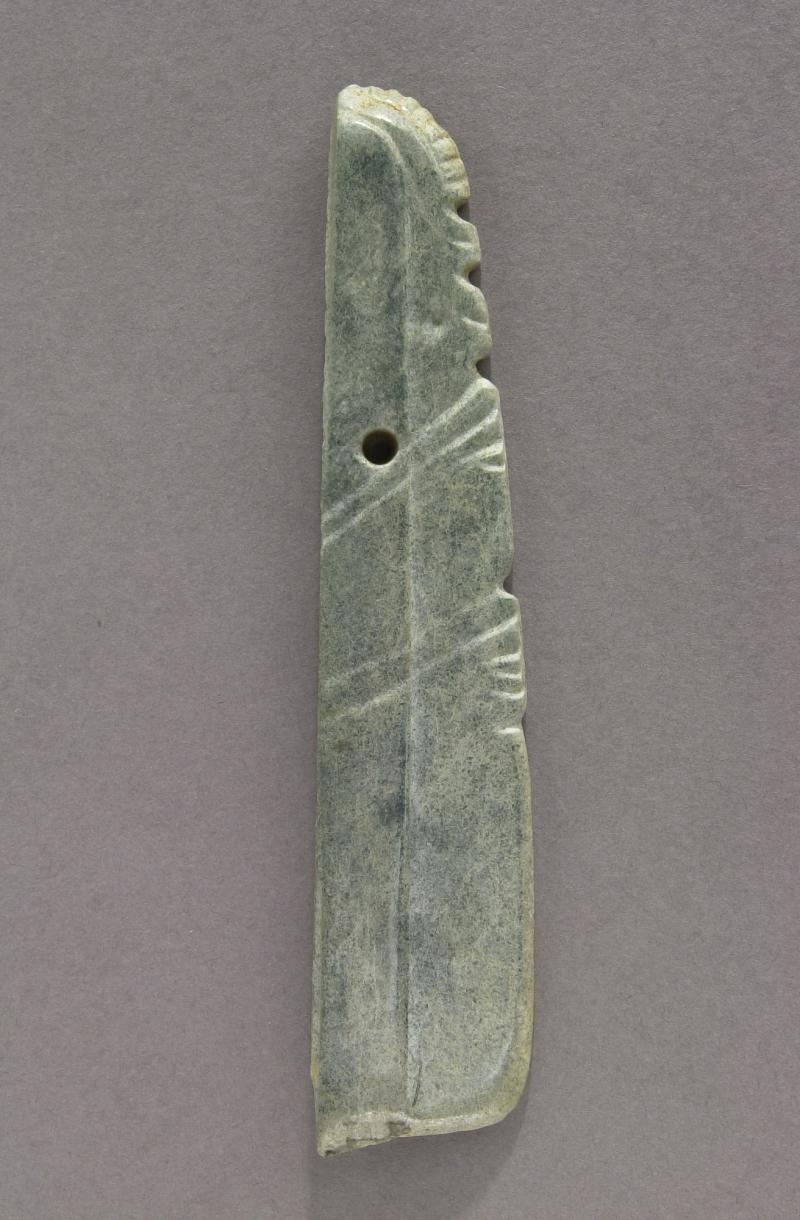Profile Figural Celt Pendant