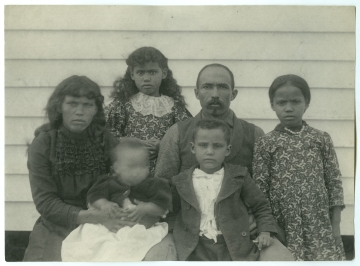 Family of John Temple Collins, Group of Six, Near Wood Frame Building