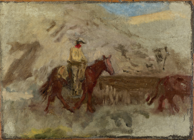 Sketch of a Cowboy at Work