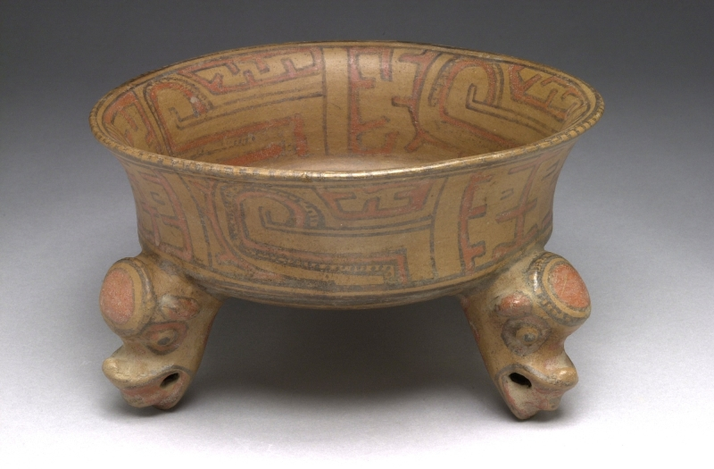 Tripod Bowl with Head-form Supports