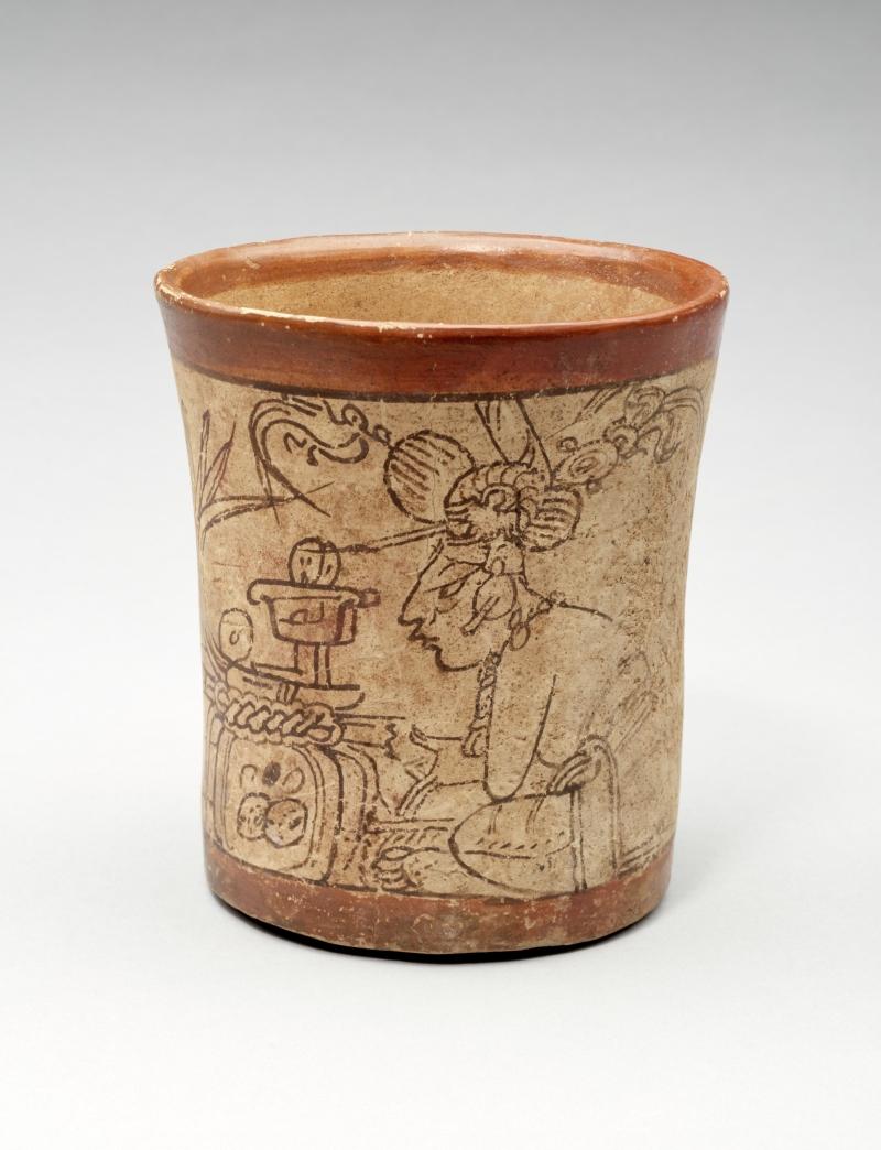 Codex-style Vessel with Tribute Scene