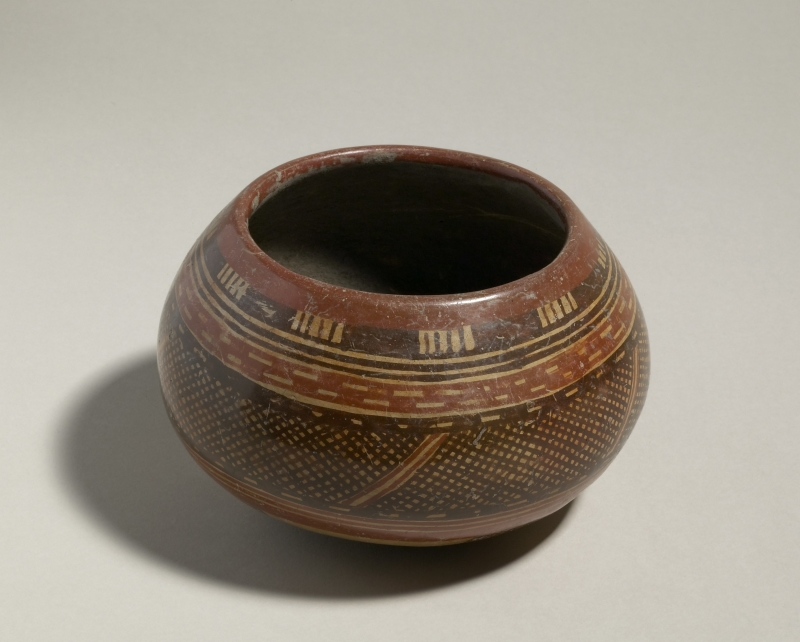 Jar with Cross-hatched Pattern