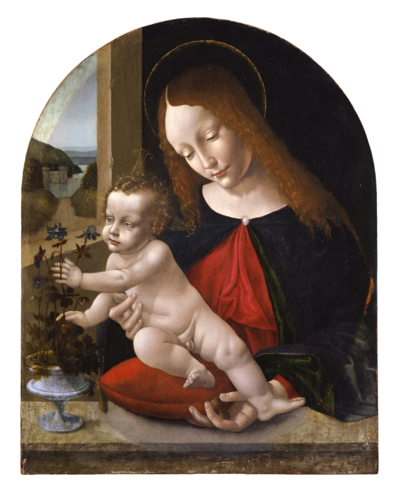 Madonna and Child with Columbines