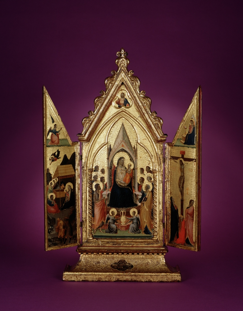 Madonna and Child Enthroned with Saints and Angels; Nativity and Crucifixion