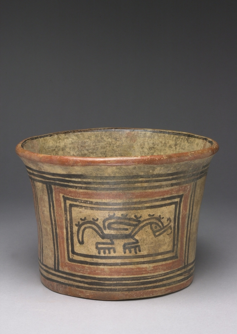 Flat-bottom Bowl with Painted Panels