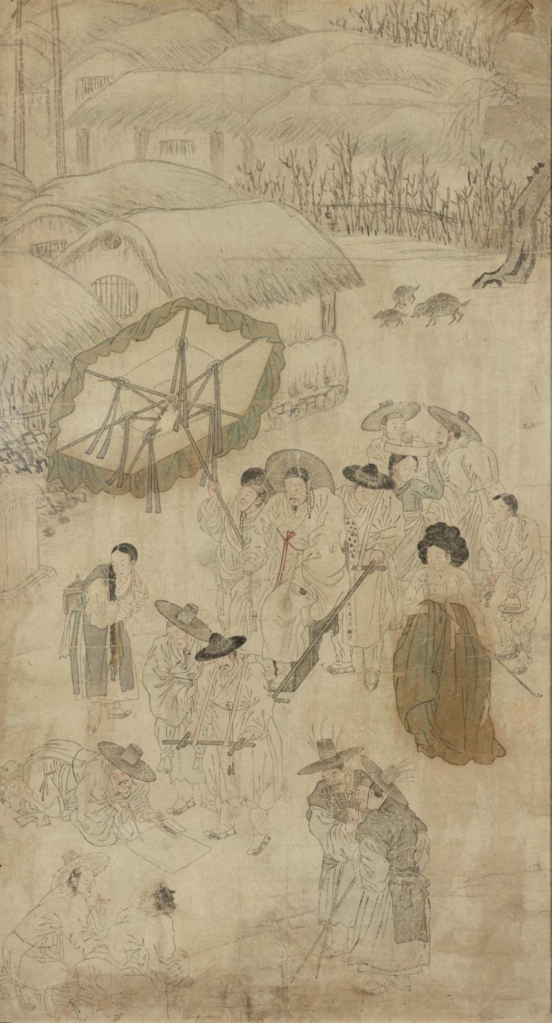 Trial in the Street (1 of 2 genre paintings)