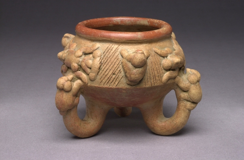 Tripod Jar with Applique Creatures