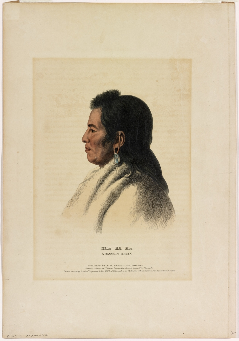 Sha-Ha-Ka, A Mandan Chief From The McKinney-Hall Series