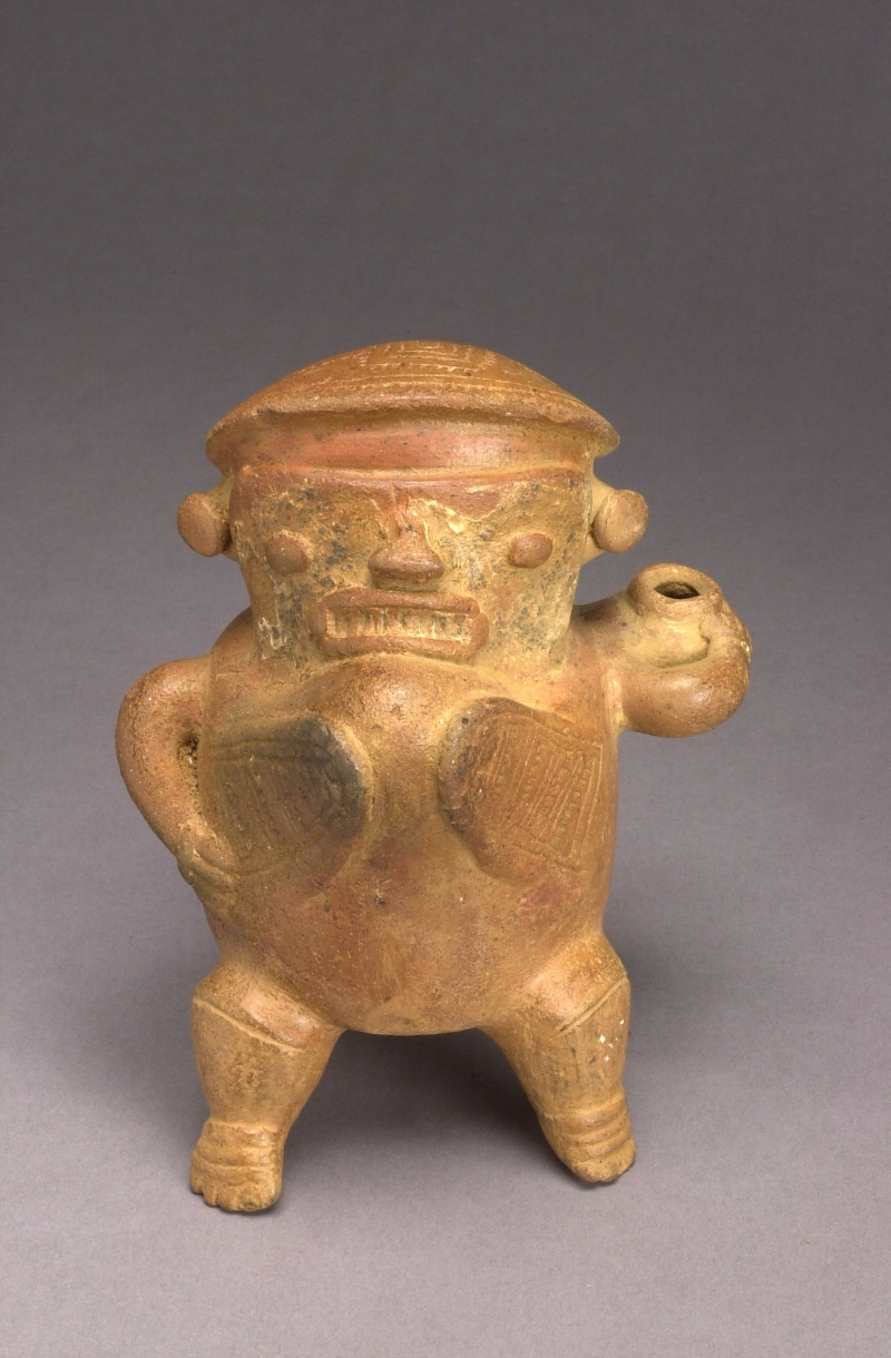 Pigeon-breasted Hunchback Tripod Figure with Jar