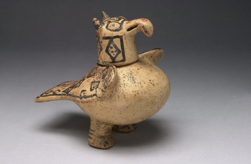 Lidded Container in the Form of a Bird (two parts)