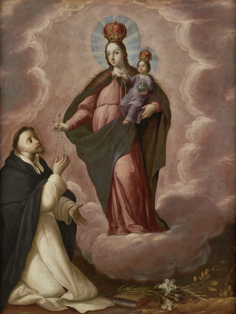 Virgin and Child Giving the Rosary to Saint Dominic Guzman