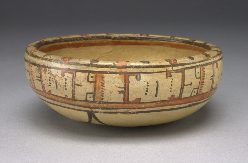 Bowl with Abstract Painted Designs