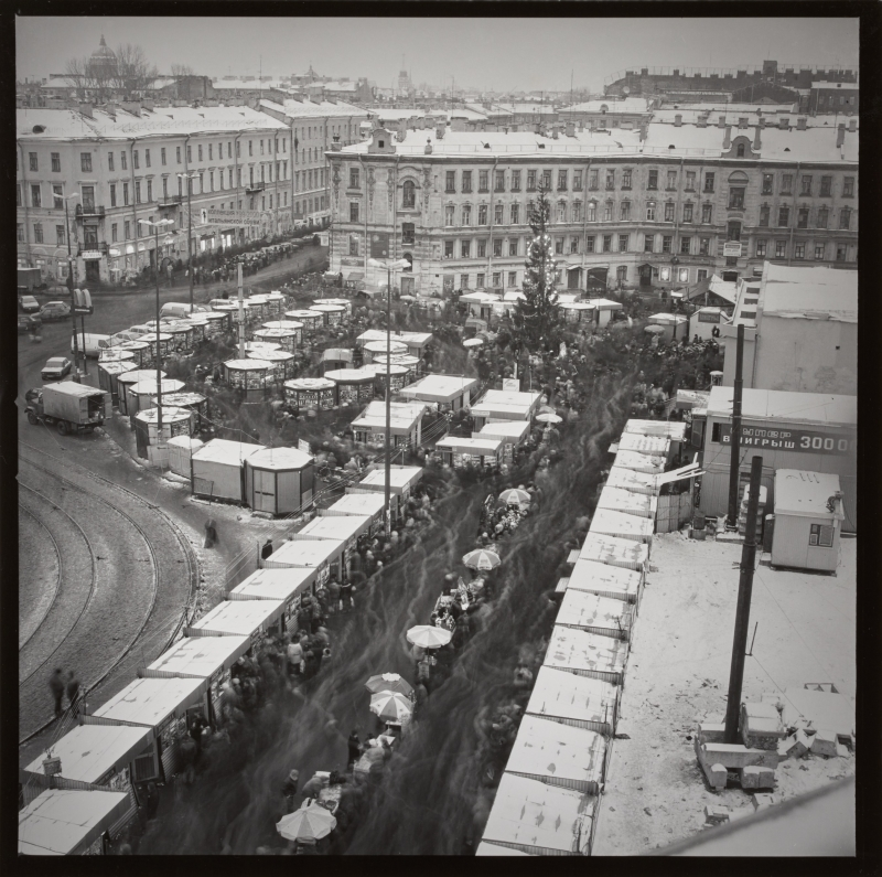 Sennaya Square in Winter, St. Petersburg
