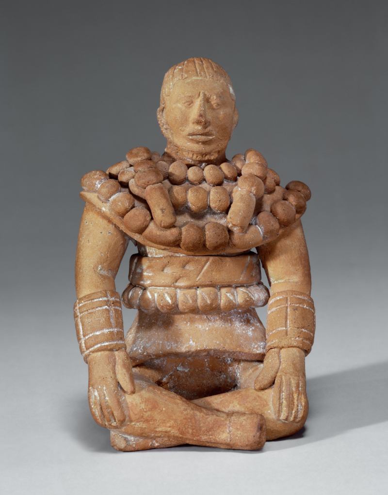 Jaina-style Figurine of a Seated Ballplayer