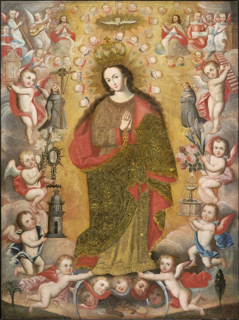Virgin of Immaculate Conception with Franciscan Saints