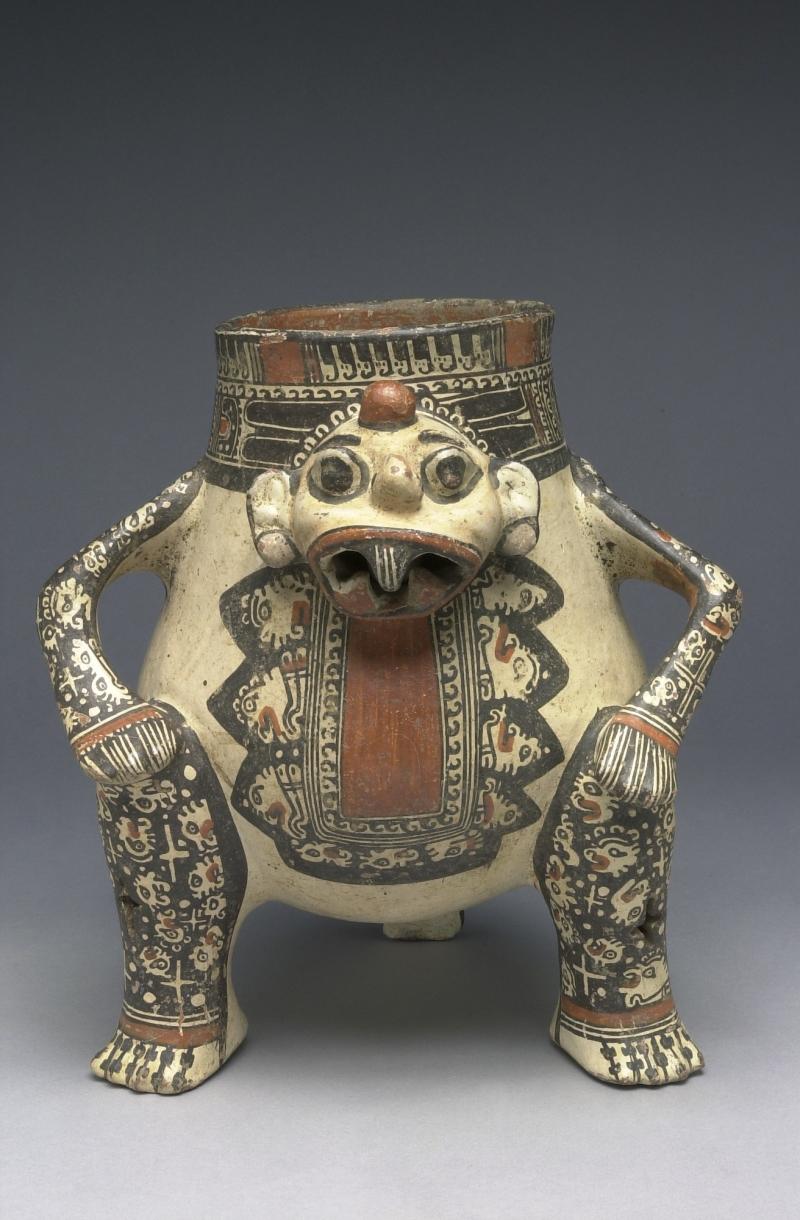 Seated Human-form Tripod Jar