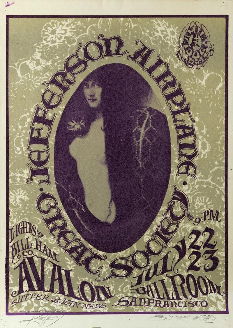 Snake Lady; Jefferson Airplane, Great Society, Avalon Ballroom, 7/22-23/66