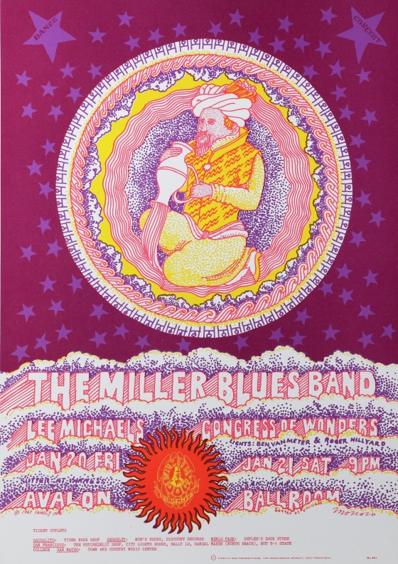 Pouring Vessel; Miller Blues Band & Lee Michaels and Miller Blues Band & Congress of Wonders at Avalon Ballroom