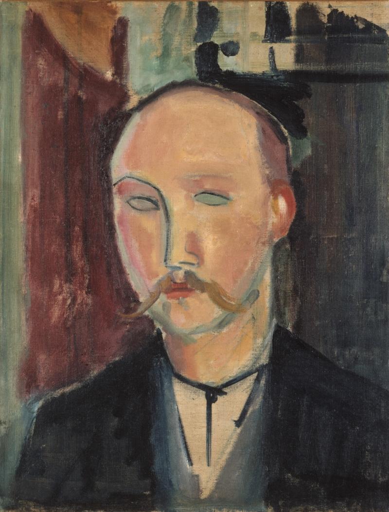 Portrait of a Man with Moustache