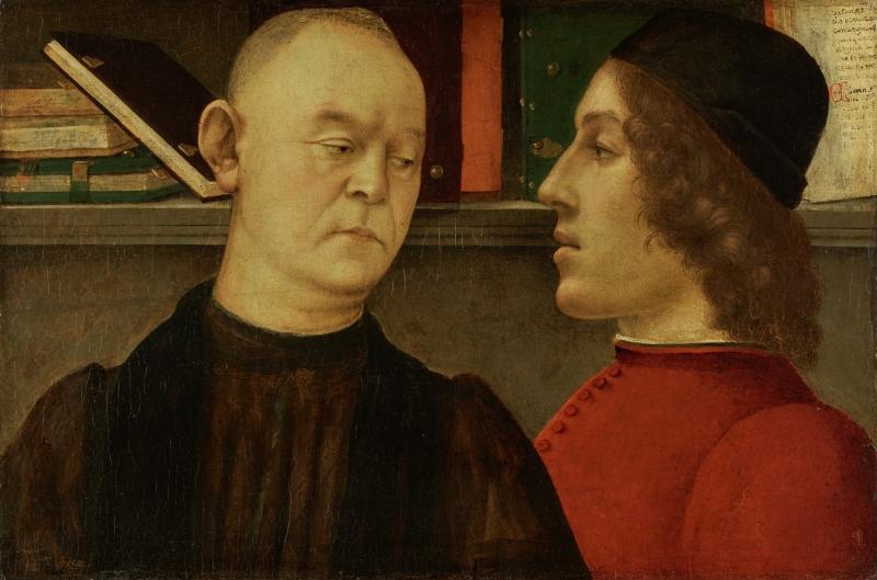 Double Portrait of Piero del Pugliese and Filippino Lippi