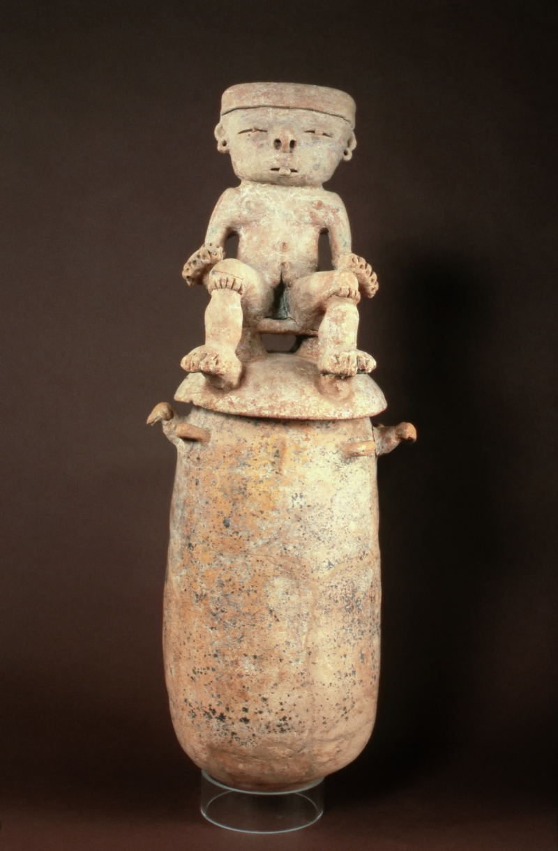 Burial Urn with Seated Figure
