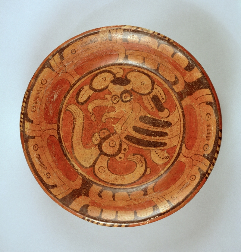 Tripod Plate with Mythical Bird