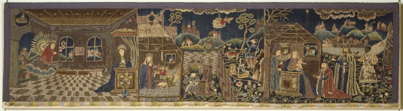 Bed Valance (Valance with scenes from the Life of Christ)