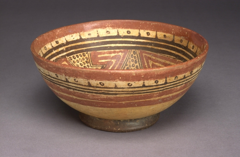 Bowl with Double-headed Creature Design