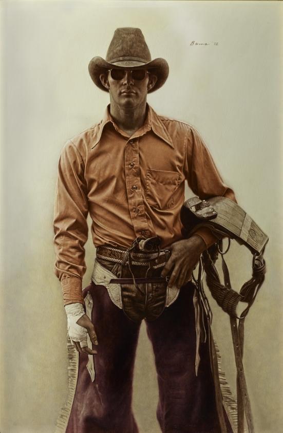 Don Walker, Bareback Bronc Rider Cody Nite Rodeo, Cody, Wyoming