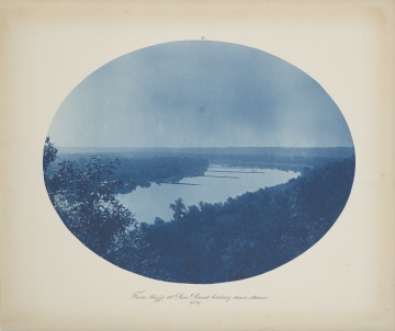 From Bluffs at Pine Bend Looking Downstream from the album Views on the Mississippi River between Minneapolis, Minn and St. Louis, Mo., 1883-1891